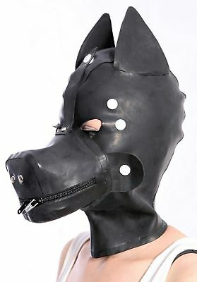 100% Latex Rubber Gummi 1,2mm wolf-dog Mask Hood catsuit cool customized cosplay