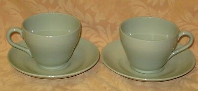 2 x Vintage 1960's Spode Flemish Green Tea Cups & Saucers - more available