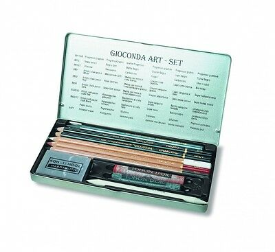 Koh i Noor Gioconda set, with ruddle charcoal, graphite  and black pencils 8890