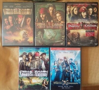 Pirates Of The Caribbean Black Pearl/Lost Disk/Dead Mans Chest Tides DVD CHOOSE
