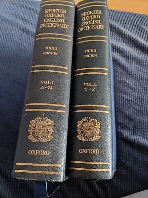 The Shorter Oxford English Dictionary, third edition, complete 2 volumes