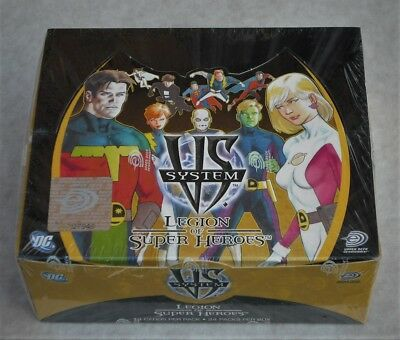 Upper Deck Dc Vs System Legion Of Super Heroes 24 Pack Booster Box New & Sealed