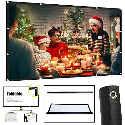 "100"" Inch Projector Projection Screen Fabric 16:9 Portable Cinema Home Theater"