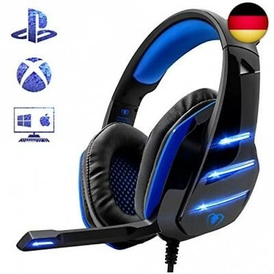 Beexcellent Gaming Headset für PS4, Surround Bass Sound Professional Kopfhöre...
