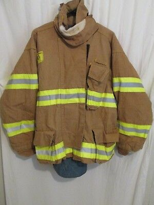 Vtg 1996 Morning Pride Gore-Tex Firefighters Brown Coat Size 29-35-33 L to XL