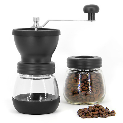 Manual Coffee Bean Grinder Adjustable Coarseness Ceramic Hand Held Mill M&W