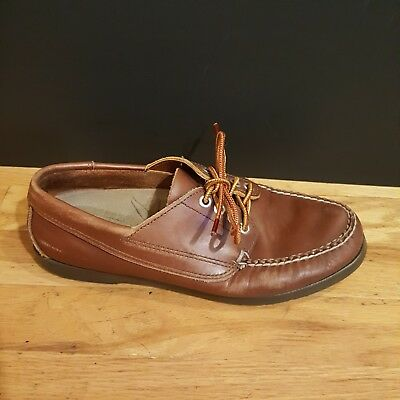 6e0edc0b48c L.L. Bean Brown Leather Boat Deck Moc Flats Loafers Women s Shoes US 8.5M  Oxford