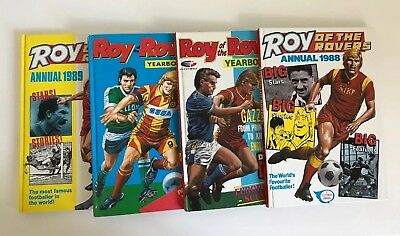 Roy of the Rovers Annuals - Set of 4: 1988, 1989, 1992, 1993