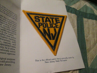 state police nj sew on felt patch new on card triangle troopers