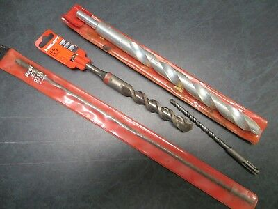 "Lot (4) New Masonry Concrete Bits 7/8"" x 13 1/4"" Hilti Rawl SDS Plus Germany"