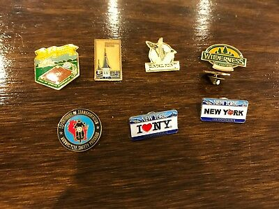 I Love New York Pins , national geographic society, department of transportation