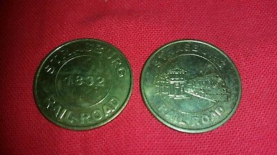 Old Strasburg Railroad Token Coin  used 1 inch
