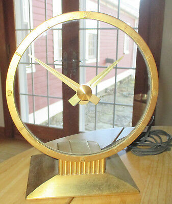 VTG Jefferson Golden Hour Electric Mystery Clock 580-101 Ca 1960s Works Great!