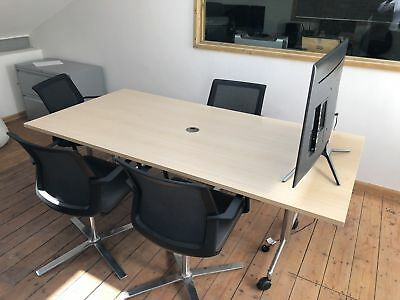 office folding meeting conference boardroom table on wheel