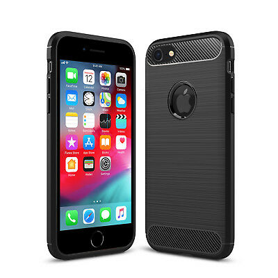 New Shockproof Silicone Matte TPU Soft Phone Case Slim Cover For Apple iPhone 8