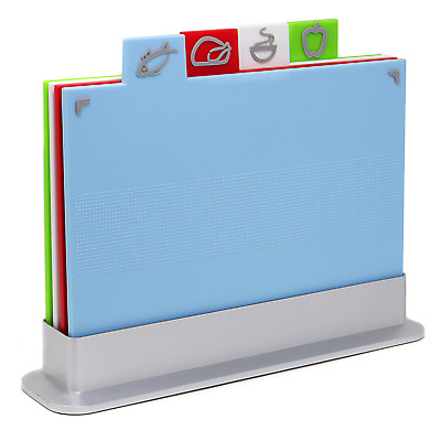 Coloured Chopping Board Set Non-slip Index Cutting Boards With Stand M&W