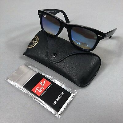 1042d3292f6e Ray Ban Wayfarer Ease 50mm Sunglasses RB4340 Black Frame Blue Gradient Lens