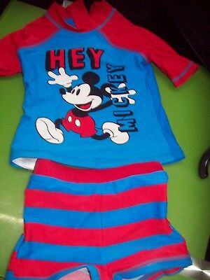 Disney mickey mouse swimsuit, 12-18 months.