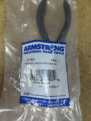Armstrong 67-401 Chain Nose Pliers, Bent