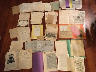 Lot de + de 100 documents anciens sur les chemins de fer