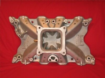 EDELBROCK TORKER FORD 351C INTAKE 2760 Modified for Dominator and Nitrous RARE