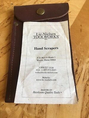 Pair of Lie Nielsen Hand Scrapers with LN Leather Wallet - Never Used !
