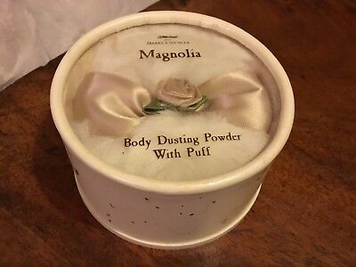 Marks and spencer magnolia Dusting Powder Bowl & Puff Shimmer Talc Unused