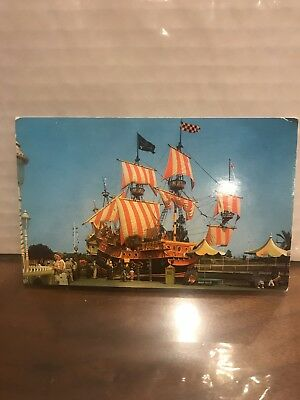 Vintage, Original Disneyland Postcard Of The Chicken Of The Sea Restaurant Boat.