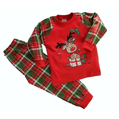 Baby Kids Girls/Boys CHRISTMAS Pyjamas Set 100% COTTON  12-18m  up to 5-6 Y