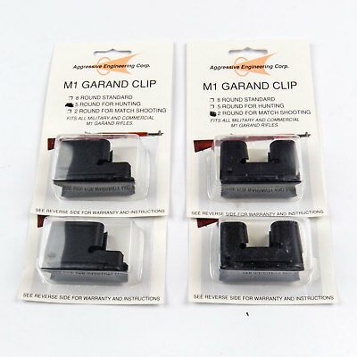 4-Pack 2 & 5 Round Clips for M1 Garand Hunting NM Match 2rd 5rd Rd Clip Part