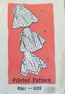 9361 Vintage Marion Martin 1960's Apron Pattern Medium RARE HTF EASY SUPER CUTE!