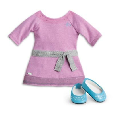 "NEW - American Girl TRULY ME LILAC DRESS for 18"" Doll Shoes Meet Outfit Purple"