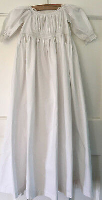 Antique Victorian baby's sleeping gown / plain Christening gown