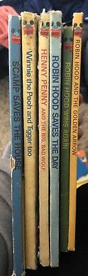 Disney's Wonderful World Of Reading Vtg 6 Book Lot Children's Readers Hardcover