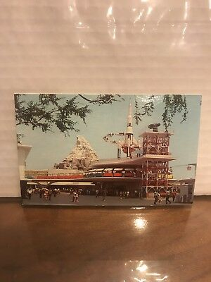 Vintage, Original, Unique, Rare, Disneyland Postcard Showing Tomorrow Land