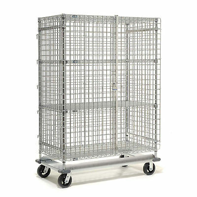 Wire Security Storage Truck with Dolly Base, 48x18x70, 1600 Lb. Cap., Lot of 1