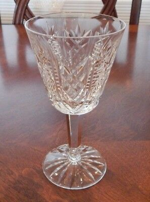 "Waterford Crystal ""Clare"" Pattern Claret Wine Glass (S) 5 7/8"" Excellent"