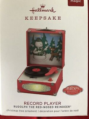 Hallmark 2018 Record Player Rudolph The Red Nosed Reindeer Christmas Music Light