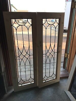 Sg 2683 2 Available Price Each Leaded and beveled glass windows 14.75 x 41.75