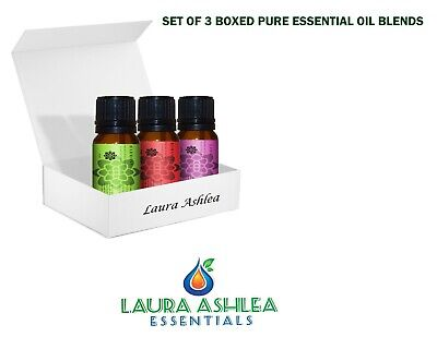Laura Ashlea Pure & Natural Essential Oil Blends - Aromatherapy - Set of 3 Oils