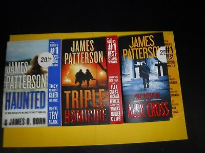 Lot Of Three Mystery Novels By James Patterson                  Trade Size