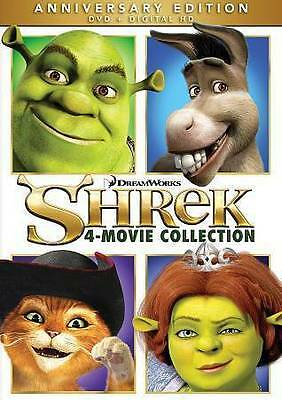 Shrek 4-Movie Collection DVD, 2016 Anniversary Ed. 2, the Third, Forever After