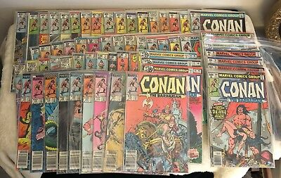 HUGE Vintage Marvel CONAN THE BARBARIAN LOT - 61 Issues