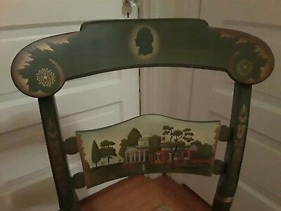 Hitchcock Jefferson Monticello Presidential Chair Limited Antique Repro Green