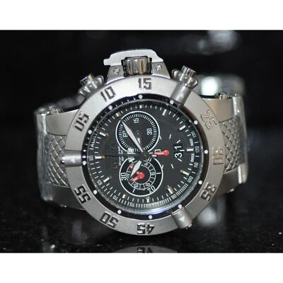 Invicta Men's Rare Subaqua Swiss Chronograph Black Dial Steel Watch 4695