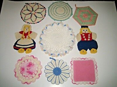 Vintage Crocheted Dutch Boy and Girl Pot Holders