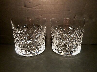 """*VINTAGE* Waterford Crystal ALANA (1952-) Set of 2 Old Fashioned 3 3/8"""" 9oz"""