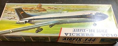 airfix 1/144 sk601 vickers vc10 red stripe model aircraft kit