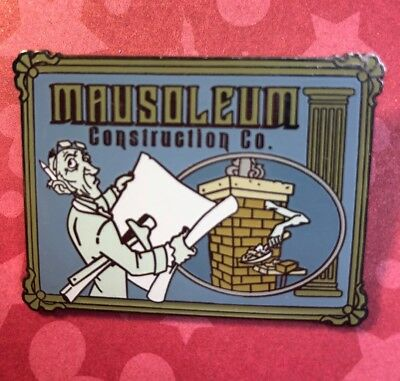 Haunted Mansion Disney O Pin House Mausoleum Construction Co LE 999 Ghost Tomb