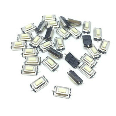 x10 PCS SMD WHITE MICRO SWITCH 3X6X2.5mm Tactile Push Button Switch Tact DIY PCB